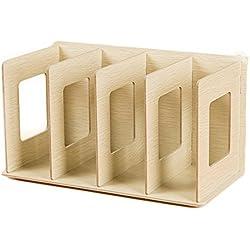 ANNA SHOP Buchständer, DIY Holz CD Ständer DVD Ständer Buchständer Kinder (Eiche)