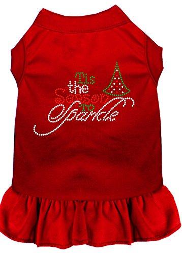 57–67rdxl Tis the Season to Sparkle Strass Hund Kleid, Large, Rot (Seasons Usa Kostüme)
