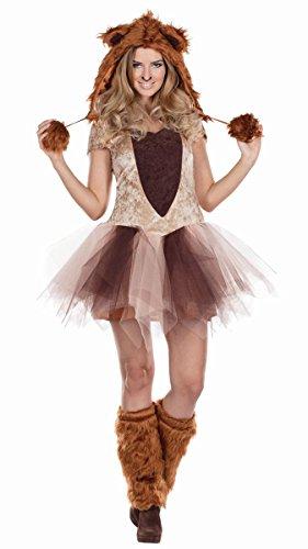 Rubie's Damen Kostüm Löwin Löwe Kleid Mütze Stulpen Karneval - Löwe Und Löwin Kostüm