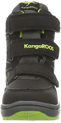 KangaROOS Rockil, Bottines à doublure froide mixte enfant Noir - Schwarz (Black/Lime 580)