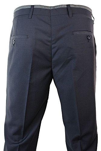 Pantalon homme gris bleu longueur standard chic habillé professionnel gris-bleu