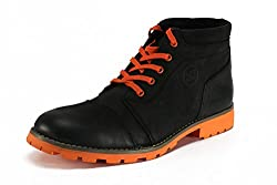Numero Uno Mens BLack Leather Boots -8 UK/42 EU