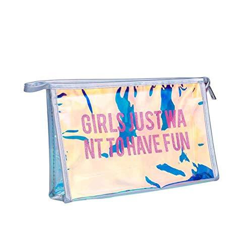 Honey Transparente Kosmetiktasche, transparente Kosmetiktasche, Damengeldbörse, tragbare glänzende Pailletten, zweifarbige Kosmetikbehälter-Handtaschenmappe