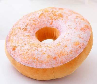 (Mjia pillow Plüschkissen,Donut KissenBüro Mittagspause lumbalenKissenKissen Schlafkissen,F,40cm)