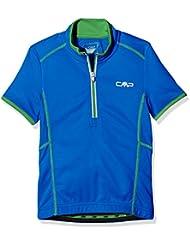 CMP Joven 3C89554t–Camiseta para ciclismo, todo el año, niño, color Zaffiro, tamaño 5 años (110 cm)