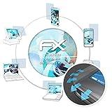 atFoliX Schutzfolie passend für Alcatel One Touch Go Watch Folie, ultraklare & Flexible FX Bildschirmschutzfolie (3X)