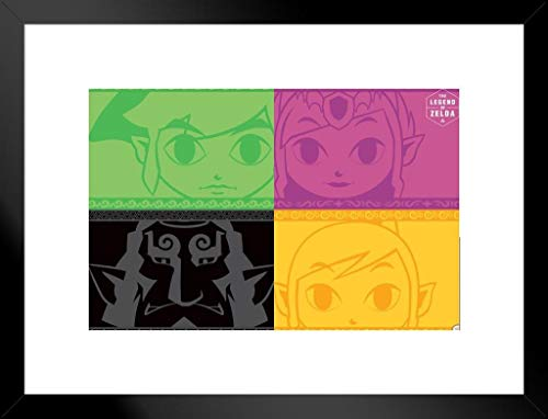 Legend Zelda Pop Art Video Gaming Poster 30,5 x 45,7 cm 20x26 inches Matted Framed Poster