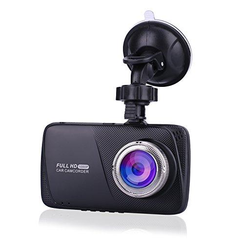 """Rtaneey Full HD 1080P 4.0"""" LCD Dashcam Autokamera Video Recorder mit 170°Weitwinkelobjektiv, Bewegungserkennung, G-Sensor, WDR, Parkschutz, Loop Recording, 24h Überwachung"""