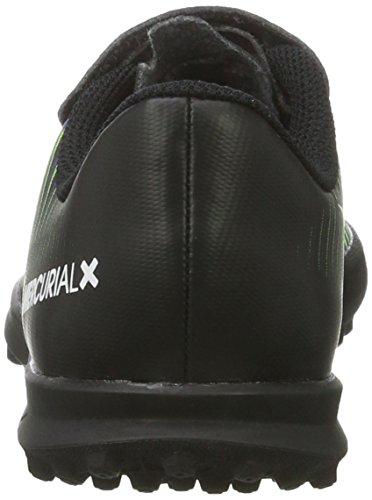 Nike 831942-013, Chaussures de Football Mixte Enfant Noir (Schwarz/weiß/elektrisch-grün/paramount Blau)