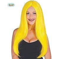 Guirca Fiestas gui4173amarillas–Larga peluca