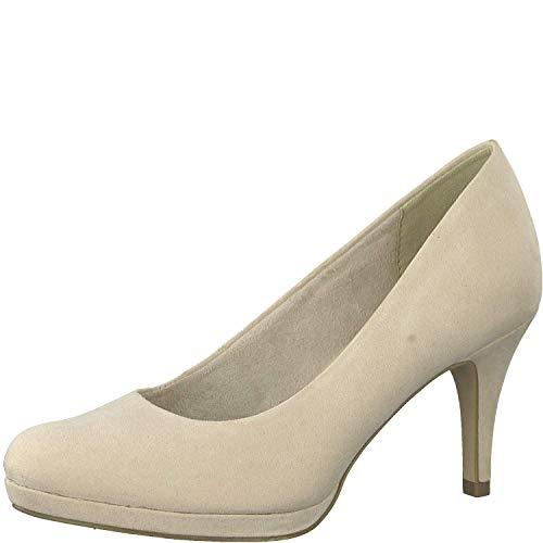 Tamaris Damen KlassischePumps 1-1-22464-32, Frauen Court-Shoes,Absatzschuhe,Abendschuhe,Stöckelschuhe,Touch-IT,Nude,38 EU Nude Patent Leather