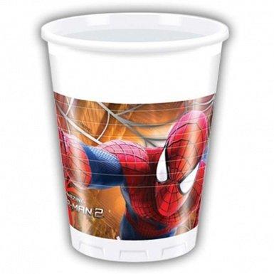 8 Plastikbecher Spiderman Spidermen