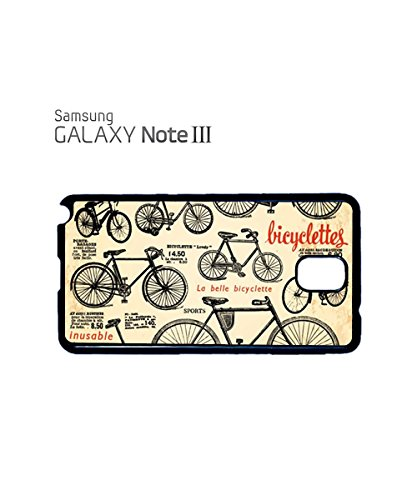 Vintage Retro Bike Cycle Bicycles Poster Bicyclettes Mobile Phone Case Samsung Galaxy S3 Black Noir