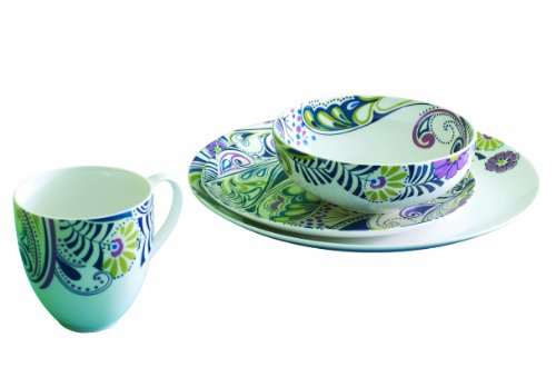 Denby Monsoon Tafelservice Cosmic (in einer Box), 16-teilig (Bone Denby China)
