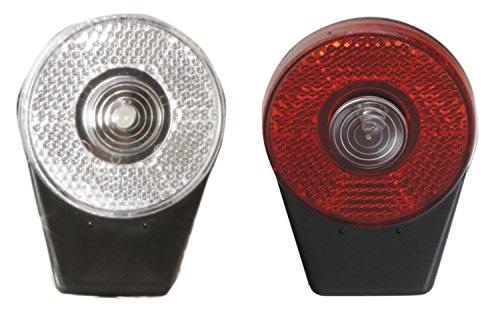 M-Wave Scheinwerfer-Set hinten/vorne Akku, Induktion.