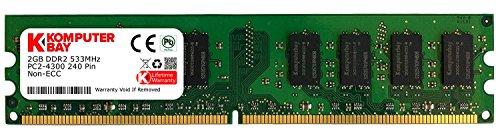 Komputerbay 2GB DDR2 PC2 4200 533Mhz 240 Pin DIMM 2 GB Desktop-CL 4 -