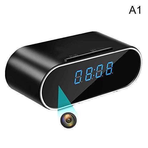 Vaugan 1080P Inalámbrico Cámara Reloj Despertador Detección Movimiento Nanny DVR Visión Nocturna para Hogar Seguridad - A1