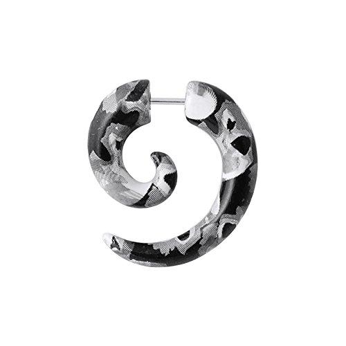 Tribal Spirale Pythonhaut Muster UV Acryl mit 16 Gauge 316 L chirurgischer Stahl Fake Messgerät Ohr Plug Piercing
