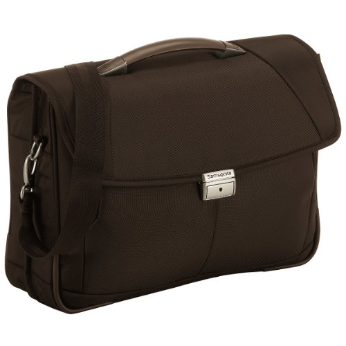 "Samsonite Cartella Intellio Briefcases Briefcase 2 Gussets 16"" 15.5 liters Marrone (Dark Brown) 56332-1251"