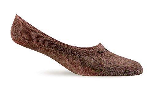 SOCKWELL Herren Undercover Merino Wolle No Show Socken, Herren, bark (No-show Merino Wolle Socken)