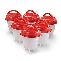 6 Pcs/set Egg Cooker Silicone Boiler Hard Boil Egg Container Mold