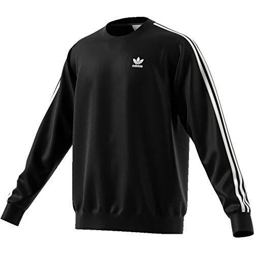 adidas 3-Stripes Crew - Suadera, Hombre, Black, XL