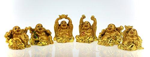 "6 ""Happy Buddha"" heureux bouddha; porte-bonheur; figures bouddha bonheur"