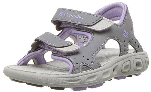 Columbia Baby Techsun Vent Sport Sandal, Tradewinds Grey, White Violet, 7 Regular US Toddler (Top Vent Front)