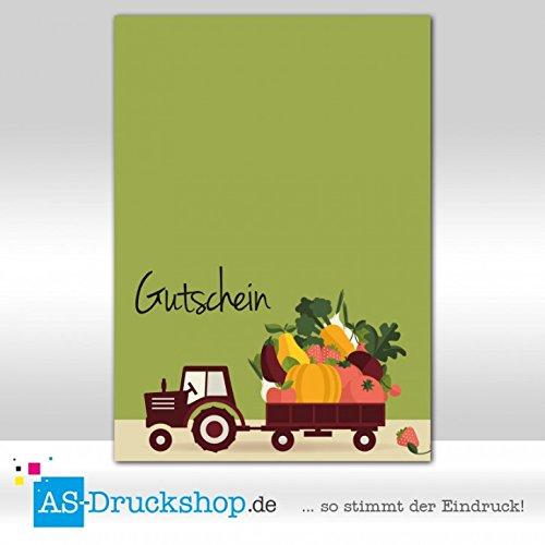 Gutschein Hofladen – Trecker / 50 Stück/DIN A6