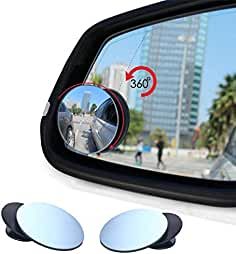 Car Round Mirror Blind Spots Rearview Reverse Auxiliary Lens Wide-angle Lens Cloverclover