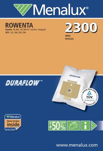 Menalux 2300 / Duraflow / 5 Staubbeutel / für Rowenta Dymbo + RCF