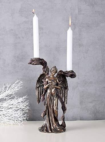 Romantischer Kerzenleuchter im Jugendstil Engel AN10010A4 Palazzo Exklusiv