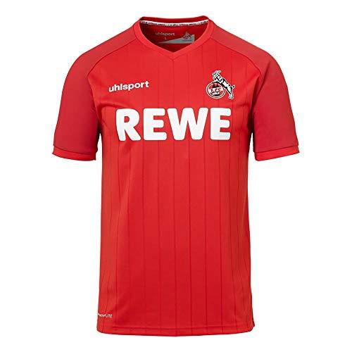 uhlsport 1. FC Köln Herren Kinder Auswärtstrikot 2019/20 rot (L)