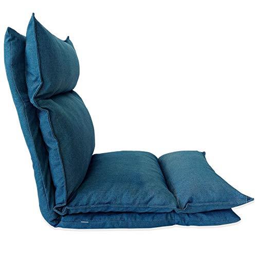 HollyHOME Patio Sedia da Sdraio reclinabile in Vimini Resistente allAcqua Poltrona Lounge Relax con Cuscino spunpoly Rosso Spessa