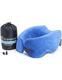 Travelrest - Coussin de voyage en mousse à mémoire de forme - ergonomique, innovateur - le MEILLEUR coussin de voyage pour l'avion, la voiture, le bus, le train, le camping, la sieste au bureau, les personnes en fauteuil roulant ou pour la maison