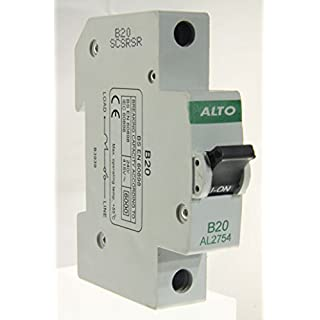 Alto AL2754-20a Type B Single Pole MCB