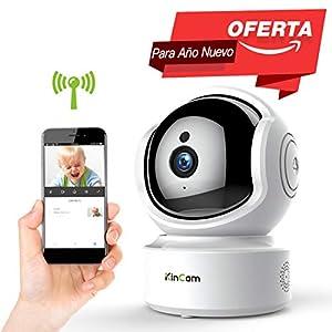 camaras de seguridad inalambricas para casa: Cámara de Vigilancia KinCam Cámara de Seguridad Inalámbrica 1080P Cámara IP de V...