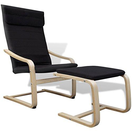vidaXL Sessel mit Hocker Schwingsessel Schwingstuhl Freischwinger Relaxsessel