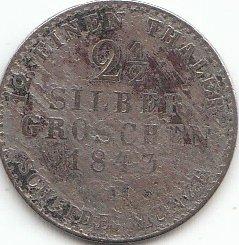 Generic Königreich Preußen Schönnr: 55 1843 A schön Silber 1843 2 1/2 Silbergroschen Wilhelm I. (Münzen für Sammler)
