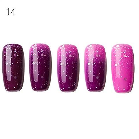 Xshuai LULAA 6ML Farbe ändernde Gel Nail Magic Polnische Nail Art Nagel Gel Polnisch UV LED Polnisch (Schmuck Führer)
