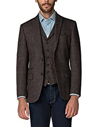 Racing Green Brown Check Tailored Fit Blazer 0049641 by Suit Direct