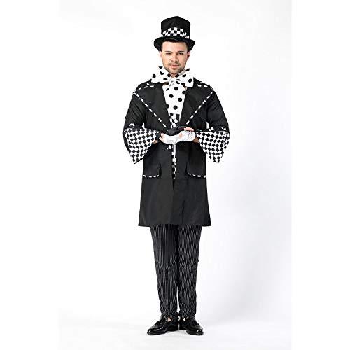 YRE Alice im Wunderland Männerkostüm, verrückt hat Osterrolle Spielen Kostüm, Masquerade Ball Karneval Kostüm (Alice Im Wunderland Kostüm Spiel)