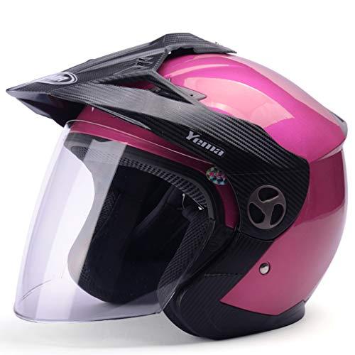 Preisvergleich Produktbild HJL Vier Jahreszeiten des Motocross-Sturzhelm-Mannes und Ein halb-bedeckter Elektrischer Sturzhelm-Lokomotive-Pers5onlichkeit-kühler Halber Sturzhelm (Farbe : Roland Red)
