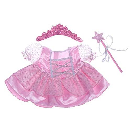 ROSA FEENKLEID Teddybär Outfit / Bekleidung. Passend für 8