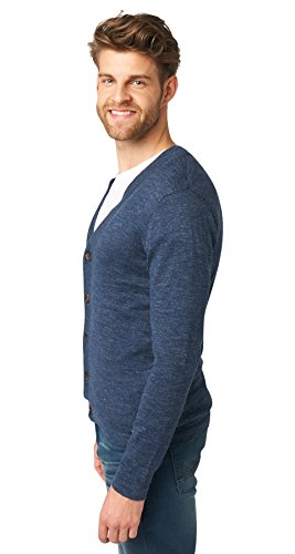 Tom Tailor für Männer knit Feinstrick Cardigan black iris blue