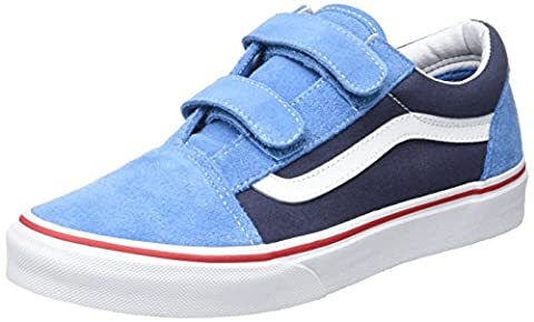 Vans Uy Old Skool V, Baskets Basses Garçon, Bleu (2 Tone), 35 EU