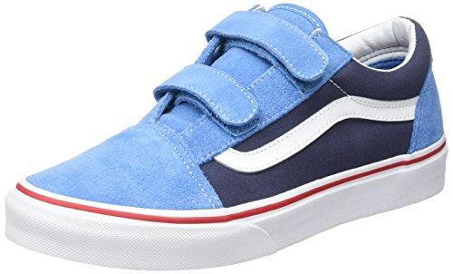 Vans Uy Old Skool V, Sneakers Basses Garçon Bleu (2 Tone)