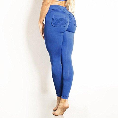 JYC - Pantalon de sport - Décontracté - Femme Marron XX-Large Bleu