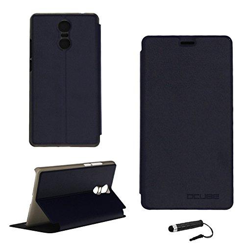 Tasche für Bluboo MAYA MAX Hülle, Ycloud PU Ledertasche Metal Smartphone Flip Cover Case Handyhülle mit Stand Function Marineblau