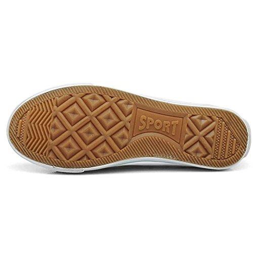 Oasap Damen Mesh Segeltuch Schnürsenkel Sneakers Black